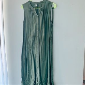 Old Navy Button up Sleeveless Dress w string tie